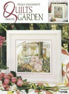 Beautiful collection of quilt cross stitch patterns by Paula Vaughan...discontinued