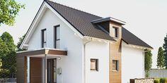 Fertighaus Einfamilienhaus: NEO 100 Außenansicht überdachter Eingangsbereich