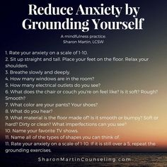 Grounding Exercise to Reduce Anxiety or Negative Feelings #anxietyhelp