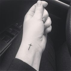 Cross Tattoo. I've decided I'm going to get this! But on the inside of my foot by my heel!