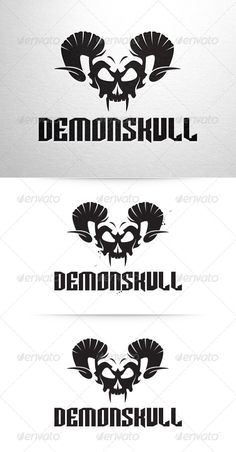 Demon Skull Logo