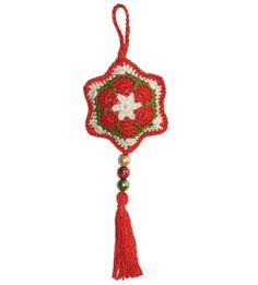 Cómo tejer una estrella navideña a partir de la flor africana a crochet (crochet african flower star)!