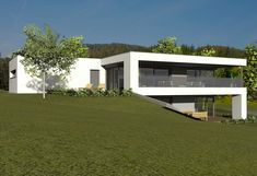 Architect's house, architect's house Styria, planning office architect, house construction a Village House Design, Village Houses, Modern Architecture Design, Modern House Design, Future House, My House, Houses On Slopes, Architect House, Architectural Elements