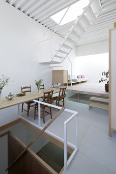 Saved by The Design Ark (thedesignark). Discover more of the best Architecture, House, Itami, Stairs, and Home inspiration on Designspiration Contemporary Architecture, Interior Architecture, Interior And Exterior, Interior Minimalista, Architect House, Architect Logo, Japanese House, Lofts, Interiores Design