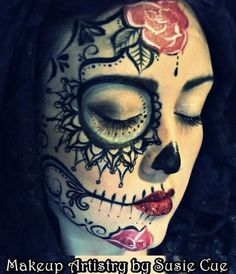 Sugar Skull on 1/2 of face.. LOVE!!