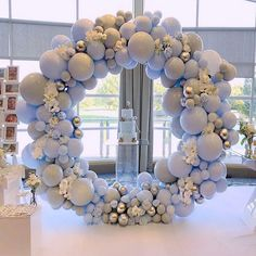 baby shower balloons So many amazing elements come together in this stunning balloon hoop decoration from weballoonz! How fantastic would this be for a boy baby shower! Deco Baby Shower, Shower Party, Baby Shower Parties, Baby Shower Themes, Baby Boy Shower, Baby Shower Balloon Decorations, Baby Shower Balloons, Birthday Party Decorations, Wedding Decorations