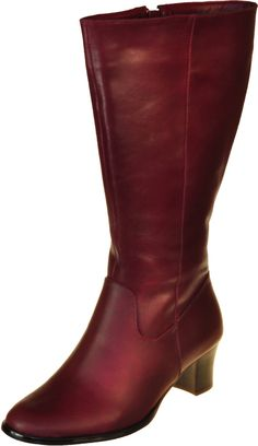 Java Burgundy - Wide Calf Boots