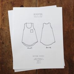 awelltraveledwoman:    texturism:    wikensten tank sewing pattern. q. gifted me several yards of the most glorious organic denim a few years ago. folded and stacked neatly in my closet. waiting. what to make? denim tanks!    My heart just melted! That pattern is perfect.
