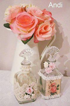 Creativite / Dekoratívne vintage fľaštičky