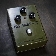 Electro-Harmonix/ Sovtek Green Russian Big Muff Pi Fuzz effects pedal