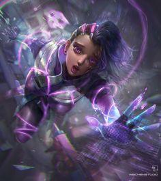 Overwatch FanArt--Rookie Sombra, Wei Chang on ArtStation at https://www.artstation.com/artwork/1WZre