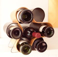 Mid Century Wine Rack Modern Home Decor by ARTinBOXES on Etsy, $125.00