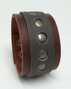 Joxasa chambered leather cuff.