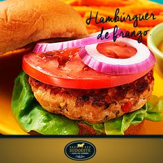 Hambúrguer de frango.