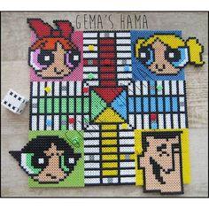 Powerpuff Girls board game hama beads by gemashama