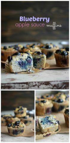 Scrumptious Coconut Flour Blueberry Apple Sauce Muffins, no sugar, low carb, low calorie from coconutalmondrecipes.com