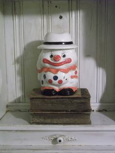 1950s Ceramic Clown Cookie Jar by UmanThings on Etsy, $40.00