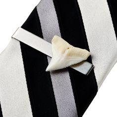 Shark Tooth Tie Clip  Tie Bar  Tie Clasp  Business by Mancornas