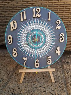Mandala Art Lesson, Mandala Drawing, Mandala Painting, Clock Craft, Clock Decor, Clock Painting, Dot Art Painting, Mandala Dots, Mandala Design