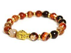 So pretty! | Semi-Precious Stone Buddha Bracelet on OpenSky