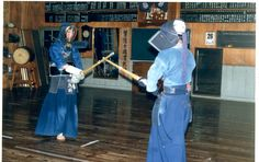 1985-6 Kenseikai Kendo Dojo Saga-shi Kyushu Japan. On the left is 6th Dan Sakai Sensei,we were under his guidance for 15 months and when we left he presented me with his Kote (gloves) I will never forget him or that time we spent there.