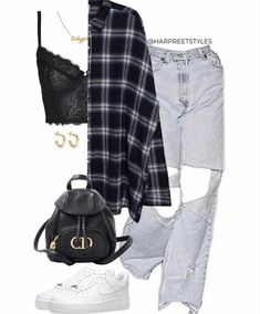 Baddie Outfits Casual, Cute Swag Outfits, Cute Comfy Outfits, Komplette Outfits, Teen Fashion Outfits, Retro Outfits, Stylish Outfits, Polyvore Outfits Casual, Weekly Outfits