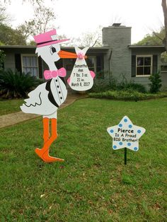 Welcome home Samantha Ann!  Orange County Storks is a new baby stork rental lawn sign and birthday yard sign company.  Grab yours today.  www.orangecountystorks.com or call 714-262-0210 Baby Stork, Birthday Yard Signs, New Baby Announcements, Lawn Sign, Storks, Sign Company, Baby Box, Orange County, Gender Reveal