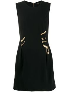 Shop online black Versace logo pin embellished dress as well as new season, new arrivals daily. Versace Logo, Marca Versace, Versace Brand, Versace Sale, Dresses Short, Dresses For Work, Gold And Black Dress, Versace Dress, Girl Outfits