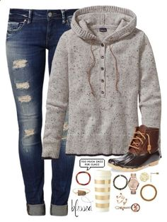 when did we replace the word said with was like by kaley-ii on Polyvore featuring polyvore, fashion, style, Patagonia, Sperry Top-Sider, Mavi, Michael Kors, Aid Through Trade, Kate Spade, Valerie Nahmani Designs and Kendra Scott