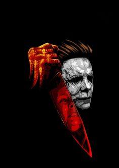 Laurie and Michael Halloween Logo, Halloween Movies, Halloween Horror, Halloween Tattoo, Best Horror Movies, Classic Horror Movies, Scary Movies, Michael Myers, Arte Horror