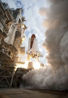 Space Shuttle Launch into space