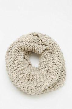 Chunky knit eternity scarf, perfect for wrapping up in. #urbanoutfitters