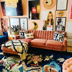 Bohemian Living Rooms, Eclectic Living Room, Eclectic Decor, Indie Living Room, Eclectic Gallery Wall, Bohemian House, Eclectic Design, Interior Design, Nature Home Decor