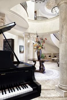 Piano room with a view