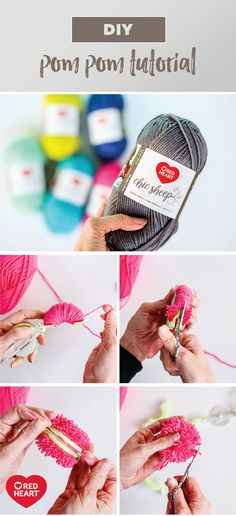 For a craft idea that will curb your pom pom obsession, check out this tutorial using Red Heart Chic Sheep Yarn by Marly Bird! However you choose to use these colorful, DIY poms, you can bet that the wide variety of bright, happy colors and the soft, high-quality nature of merino wool will make them the perfect accent to a variety of projects. This fun project is sure to show you that even beginners can make a trendy home decoration!