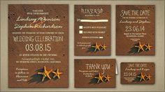 BEACH WEDDING INVITATION invitations