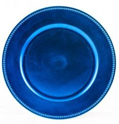 Turquoise Blue Beaded Charger Plates
