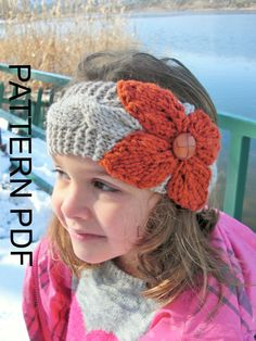 Ear warmer crochet headband head wrap earwarmer linen off white ear warmer headband knitting pattern instant download pattern digital toddler child adult sizes 3 sizes pdf cable knit headband dt1010fo