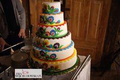 Tort weselny z motywami ludowymi (fot. Ewa Wojciechowska)