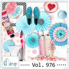 Vol. 976 - Fifties Mix  by Doudou's Design  cudigitals.com cu commercial scrap scrapbook digital graphics#digitalscrapbooking #photoshop #digiscrap