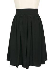 Trashy Diva Classic Skirt skt91-blackrayoncrepedechine