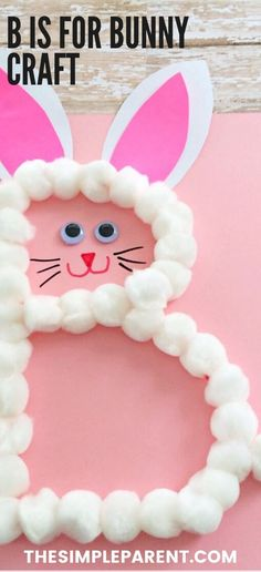Preschool crafts are a fun way for kids to learn while they get creative! This letter B craft is hands-on and easy for kids to make! It's perfect for toddlers and kindergarteners learning the alphabet! It's also great for Easter!