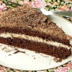 Chocolate Genoise with Mocha Mascarpone Filling