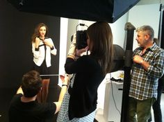 We are on the photo set with Miss Italy and Miss Deborah Milano!!! Here's a shot stolen from backstage!