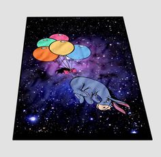 Marble Disney Winnie The Pooh Eeyore Nebula Blanket cheap and best quality. *100% money back guarantee