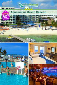 ¡Viaja a #Cancún! 4 días y 3 noches con todo incluido para 2 personas, más 2 niños gratis al reservar ¡Puedes apartar este paquete con solo $499mxn, mira!