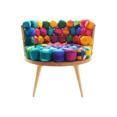 Recycled Silk Chair on WootocracyMeb Rure's 'Silk Chairs': spiritual and colourful seating elementsExperience the WOW* factor Cozy Furniture, Unusual Furniture, Funky Furniture, Recycled Furniture, Colorful Furniture, Contemporary Furniture, Painted Furniture, Furniture Design, Furniture Chairs