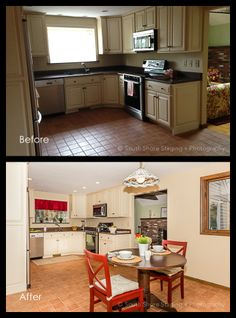 Get inspired by Farmhouse Kitchen Design photo by South Shore Staging and Photog. Wayfair lets you find the designer products in the photo and get ideas from thousands of other Farmhouse Kitchen Design photos. Kitchen Dining, Kitchen Cabinets, Kitchen Designs Photos, Real Estate Photography, Beautiful Space, Staging, Farmhouse, Dads, Inspiration