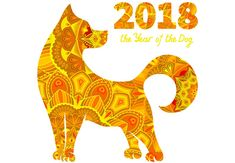 Year of the dog, the earth dog is also known as the brown dog for Chinese New Year's celebration.