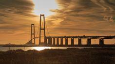 Storebælts bridge - Storebælt bridge at sunset